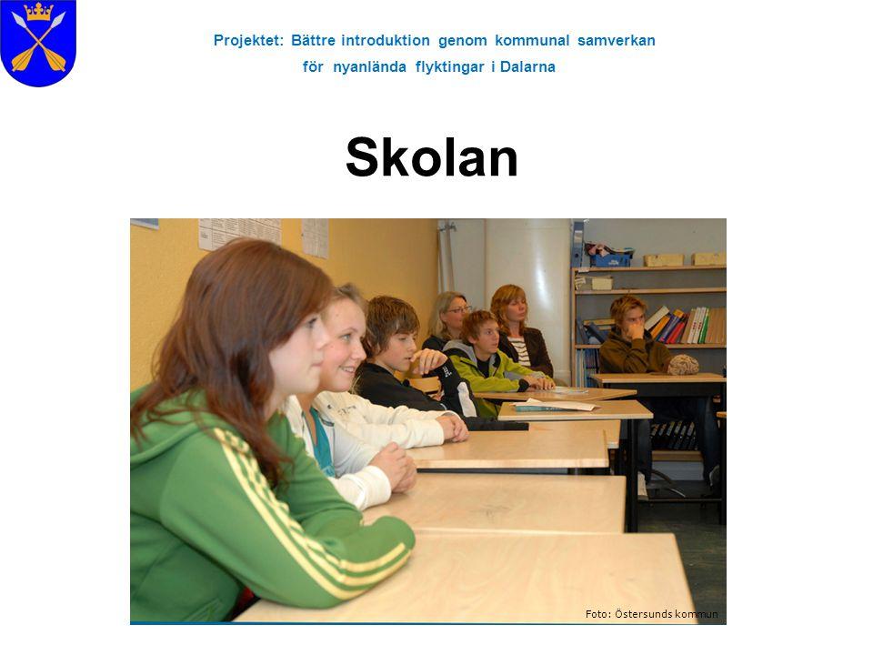 Projektet: Bättre introduktion genom kommunal samverkan för nyanlända flyktingar i Dalarna Foto: Östersunds kommun Skolan