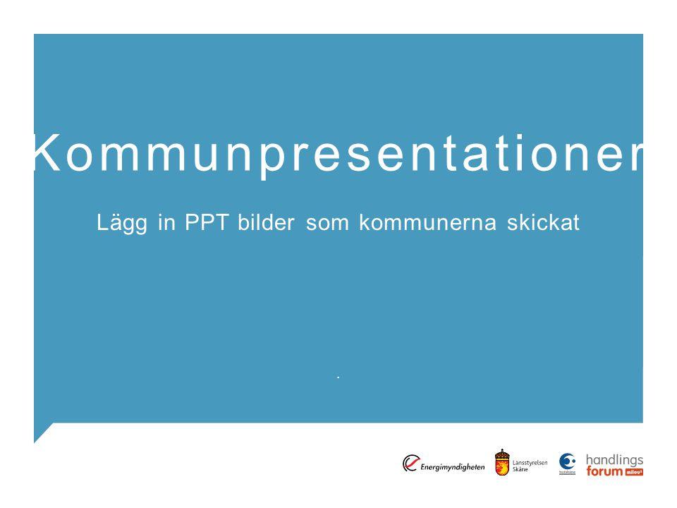 . Kommunpresentationer Lägg in PPT bilder som kommunerna skickat
