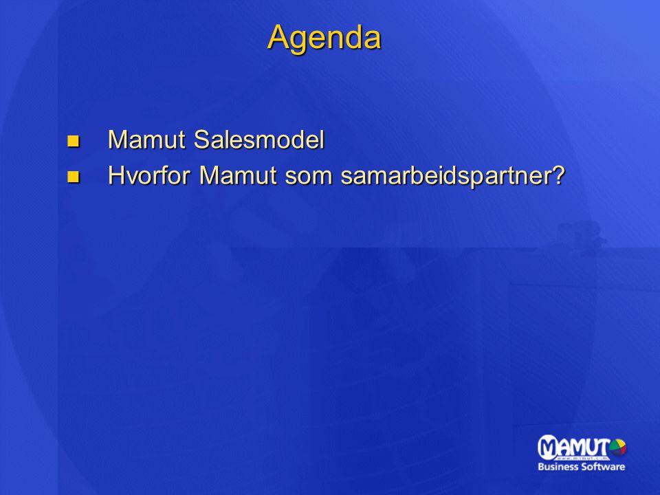 Agenda Mamut Salesmodel Mamut Salesmodel Hvorfor Mamut som samarbeidspartner.