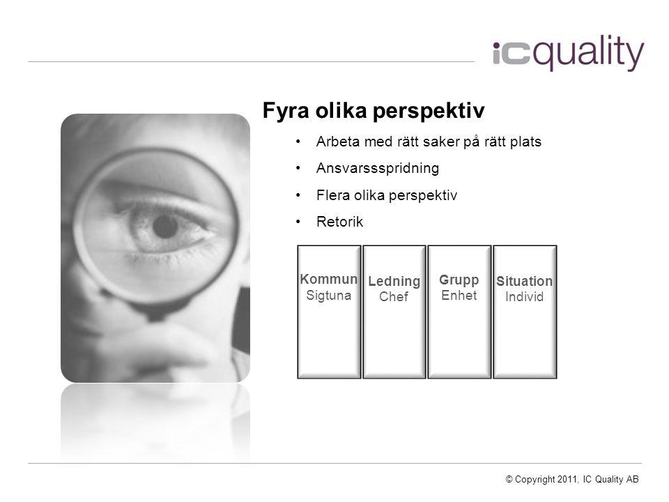 © Copyright 2011, IC Quality AB Vad påverkar det svar man ger.