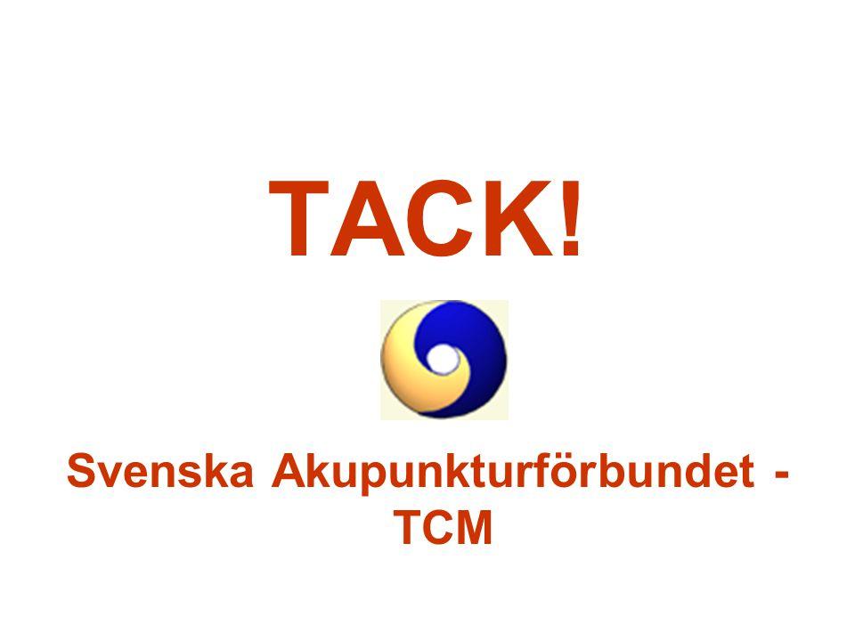TACK! Svenska Akupunkturförbundet - TCM