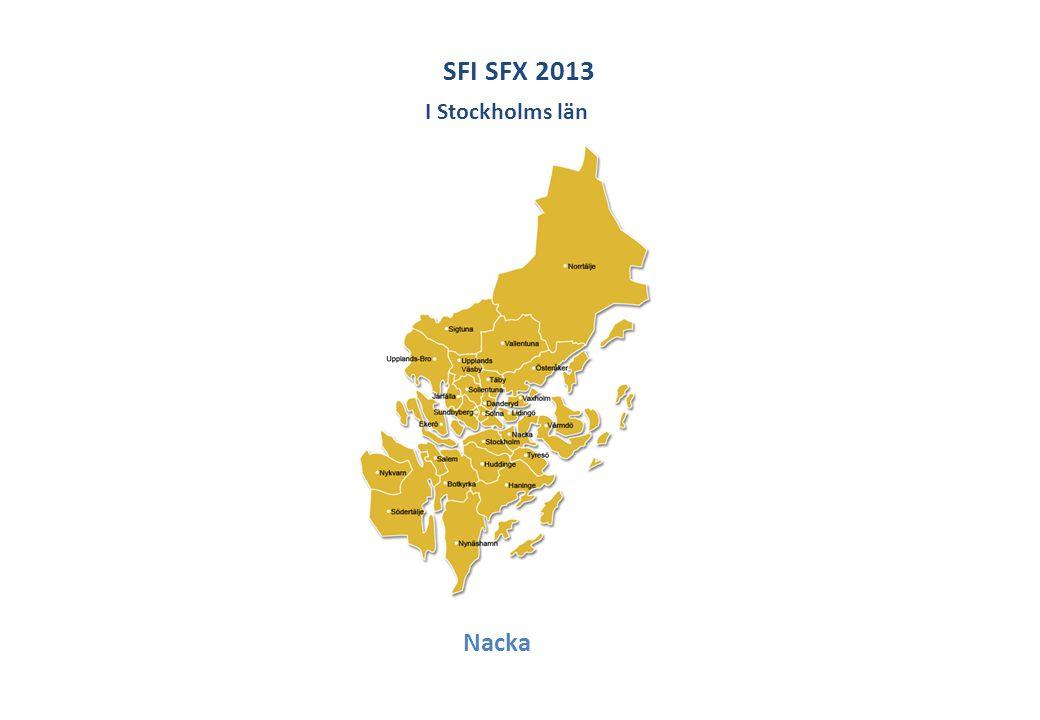 SFI SFX 2013 Nacka I Stockholms län