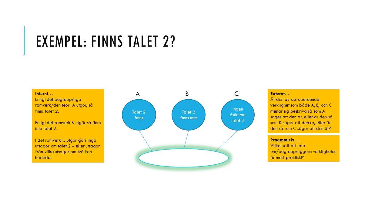 EXEMPEL: FINNS TALET 2.