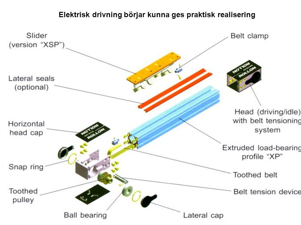 Elektrisk drivning börjar kunna ges praktisk realisering