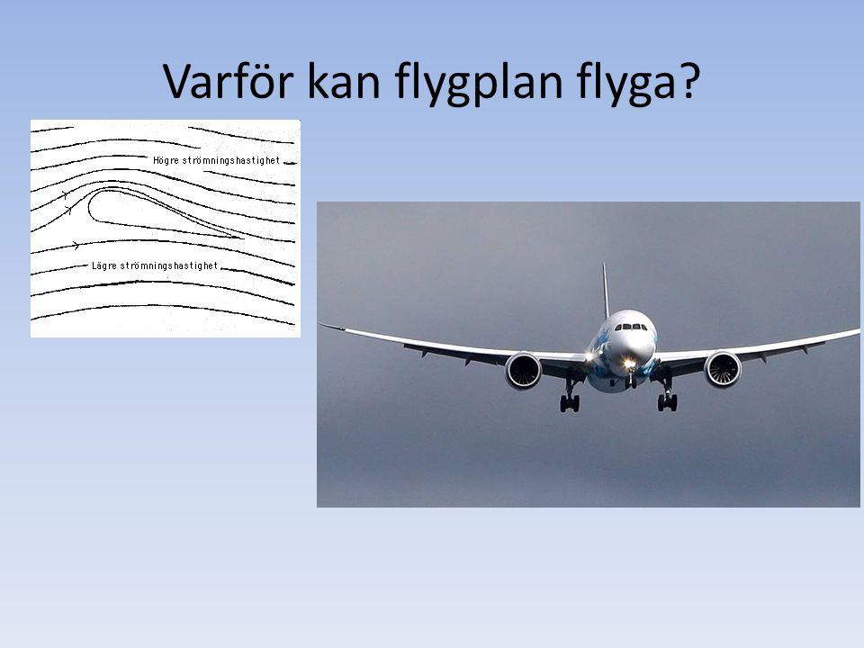 Varför kan flygplan flyga?