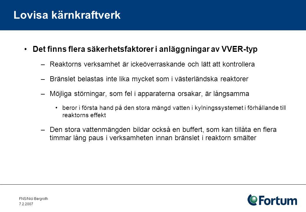 FNS/Nici Bergroth 7.2.2007 Lovisa kärnkraftverk