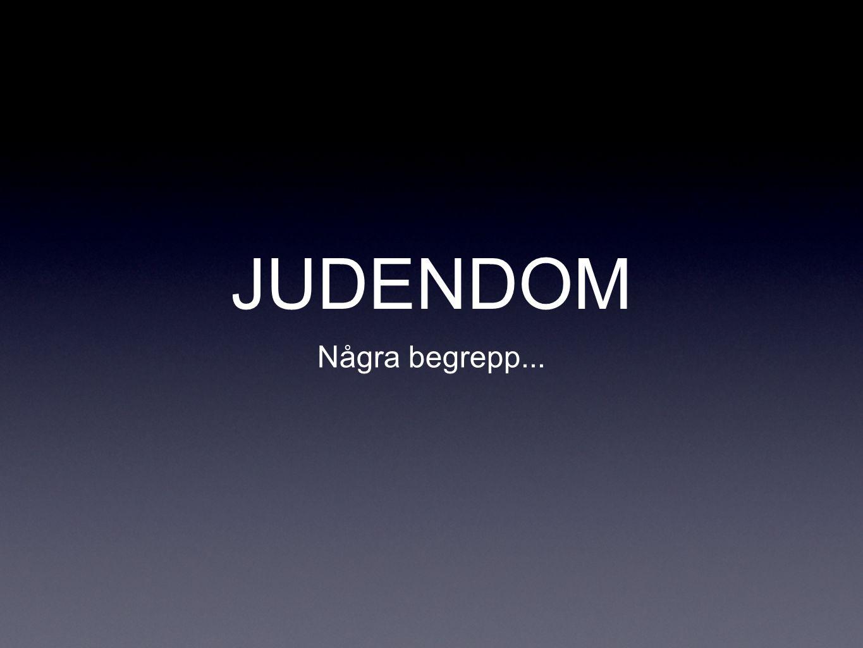 JUDENDOM Några begrepp...