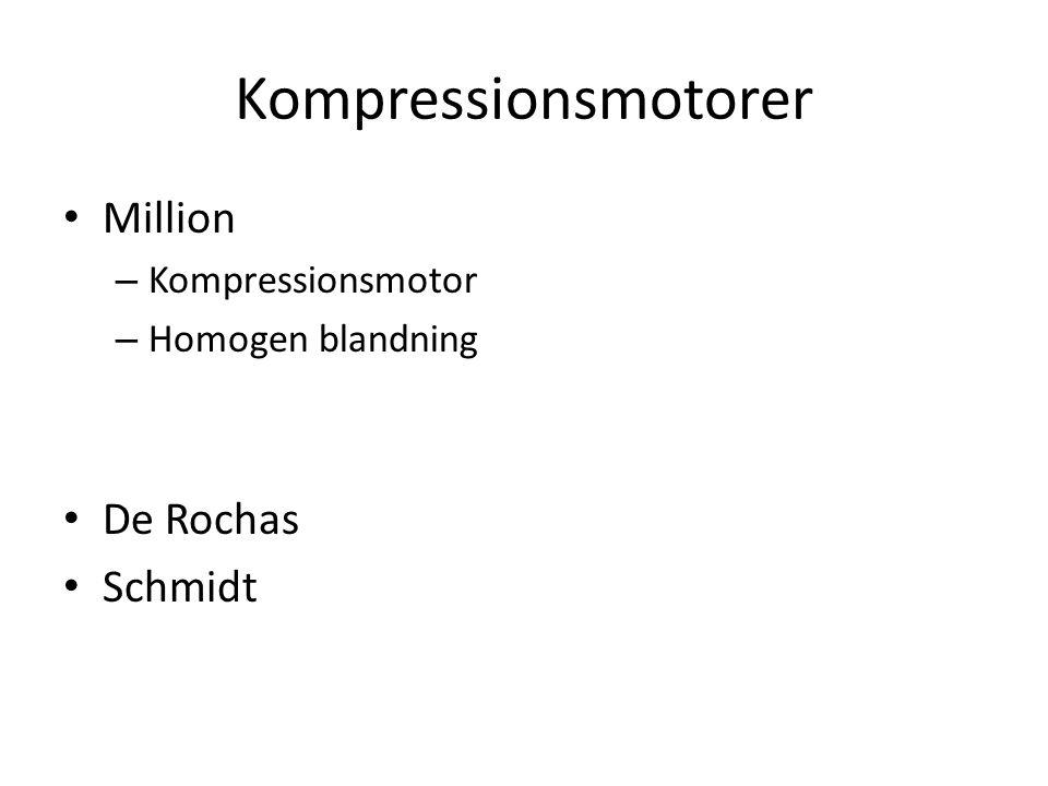 Kompressionsmotorer Million – Kompressionsmotor – Homogen blandning De Rochas Schmidt