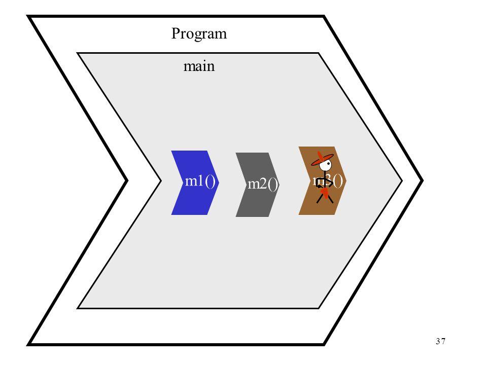 37 main Program m1() m2() m3()