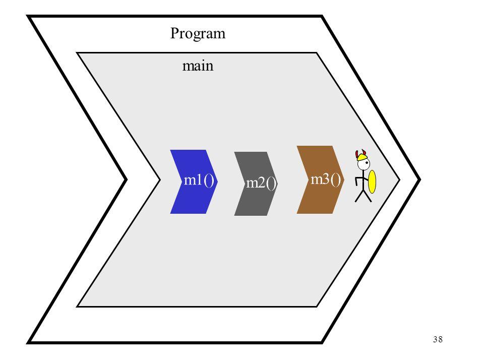 38 main Program m1() m2() m3()