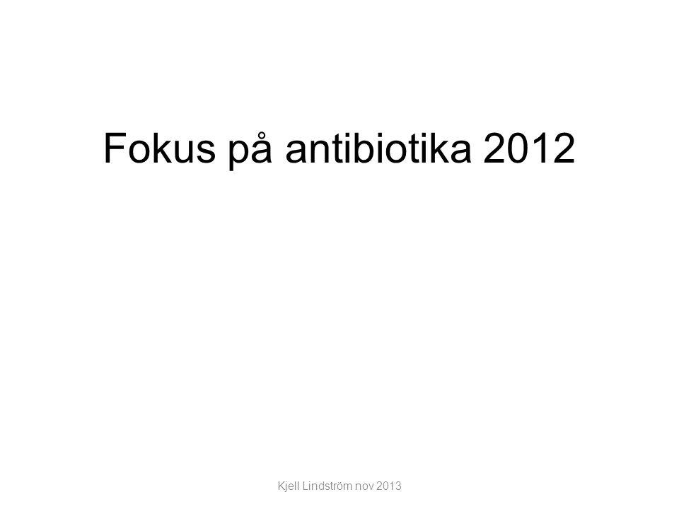 Fokus på antibiotika 2012 Kjell Lindström nov 2013