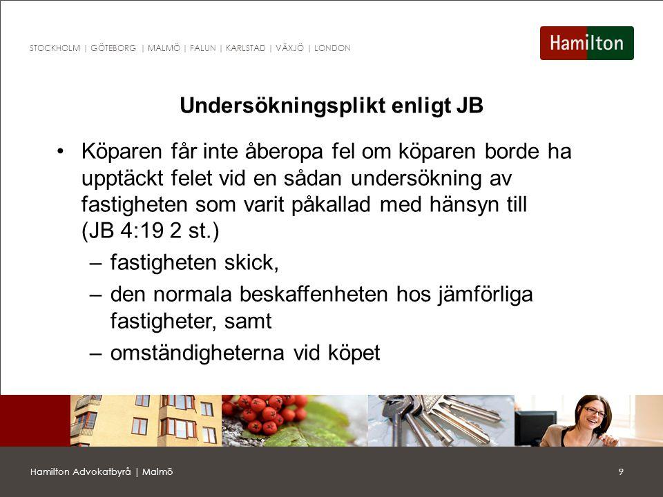20Hamilton Advokatbyrå | Malmö STOCKHOLM | GÖTEBORG | MALMÖ | FALUN | KARLSTAD | VÄXJÖ | LONDON Förköpslagen Kommunen har förköpsrätt vid försäljning av fast egendom med undantag för (3 § FL) –permanent- och fritidsbostäder (under 3 000 kvm) –staten är säljare eller köpare –vissa släktköp –exekutiv auktion –andelsförsäljning Förköpslagen gäller endast vid köp av fast egendom och sålunda inte vid köp av bolag/aktier