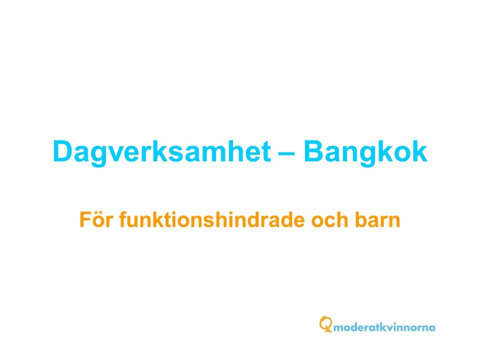 Dagverksamhet – Bangkok För funktionshindrade och barn