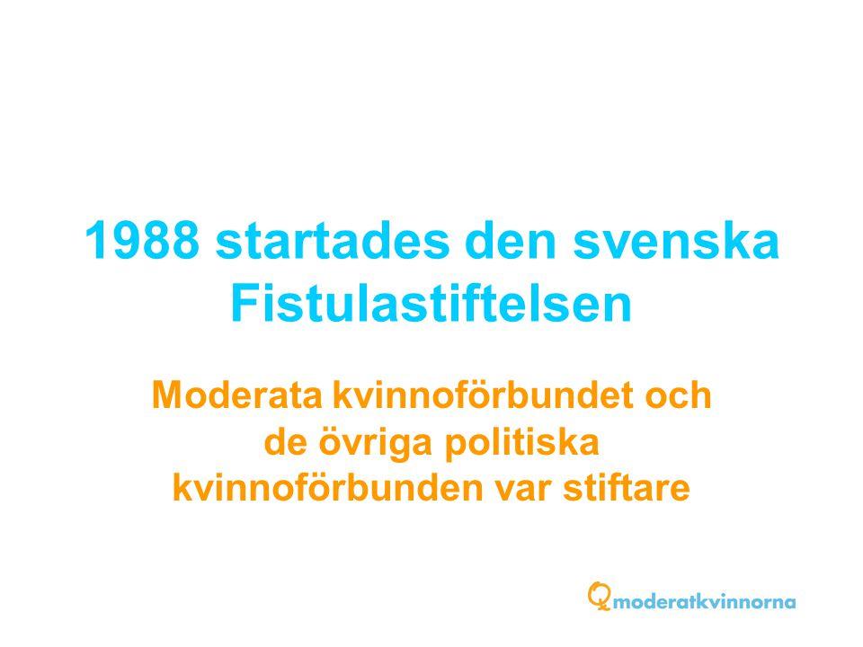1988 startades den svenska Fistulastiftelsen Moderata kvinnoförbundet och de övriga politiska kvinnoförbunden var stiftare