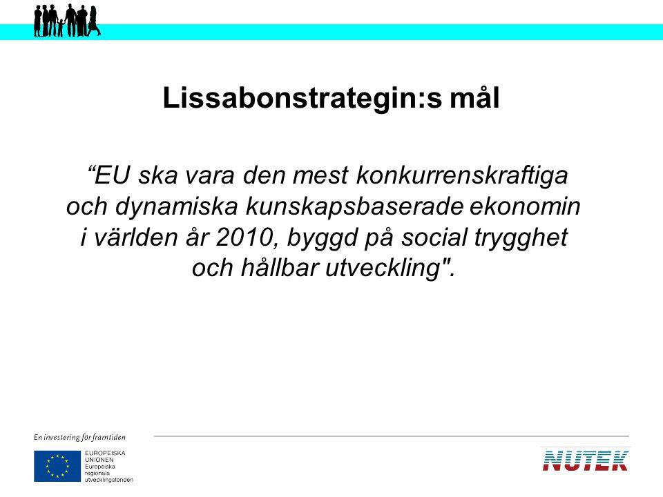 Lissabonstrategin Sammanhållningspolitik Strukturfonderna