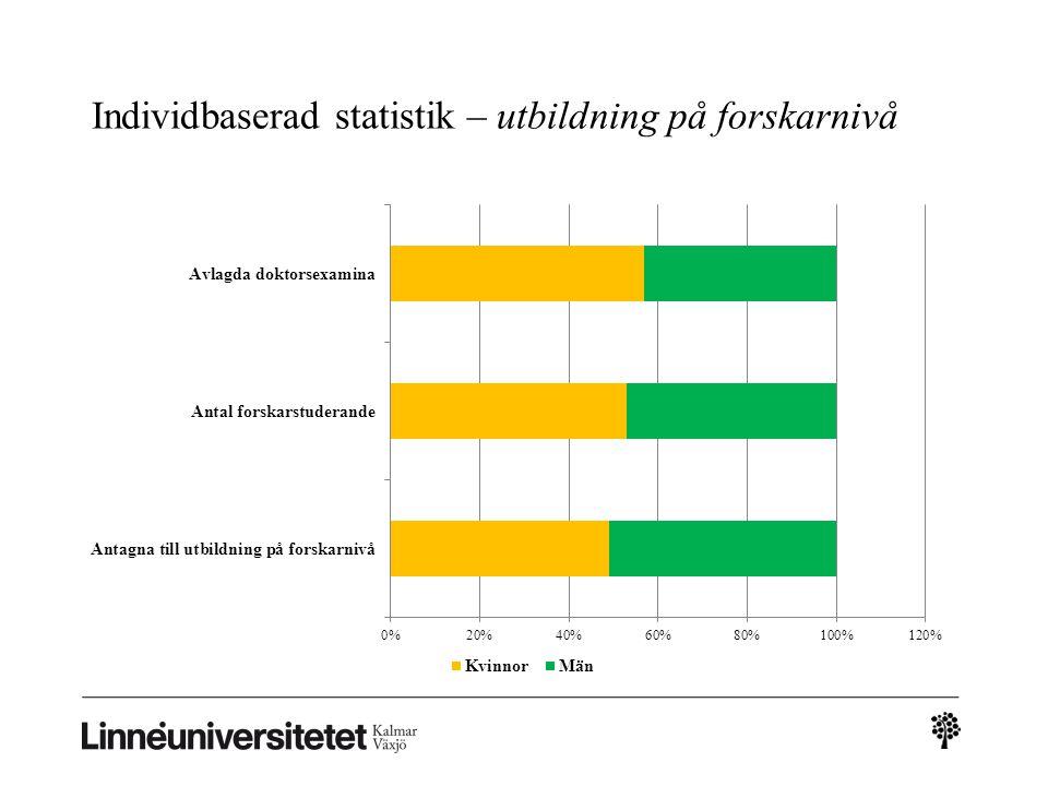 Individbaserad statistik – utbildning på forskarnivå