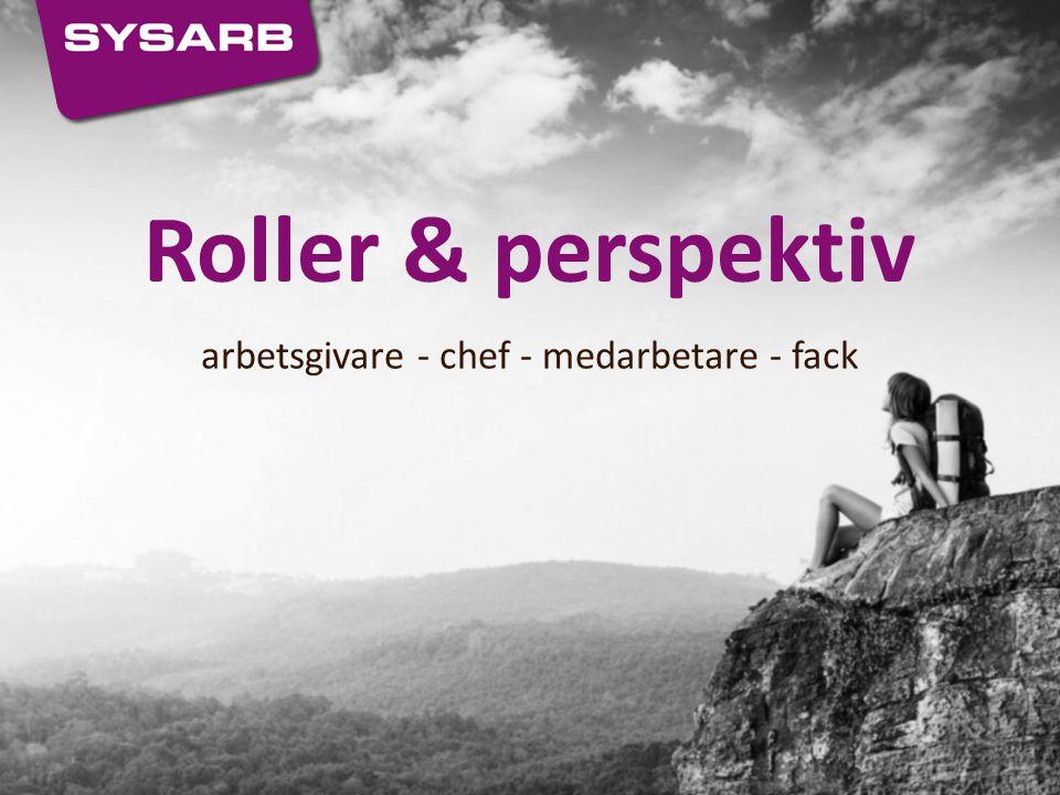 Roller & perspektiv arbetsgivare - chef - medarbetare - fack