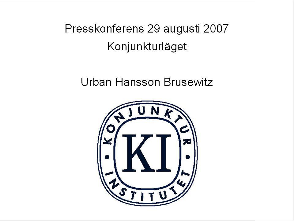 Konjunkturläget Augusti 2007