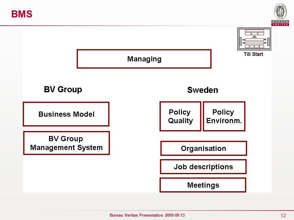 12 Bureau Veritas Presentation 2009-08-13 BMS