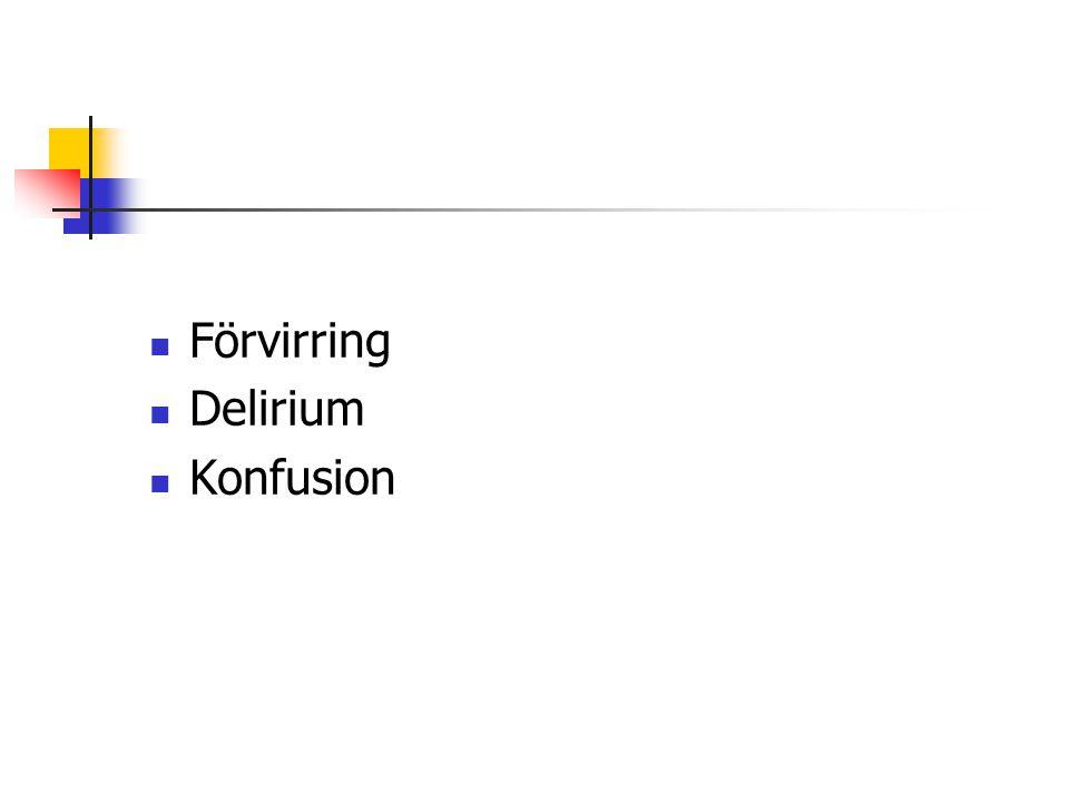 Förvirring Delirium Konfusion