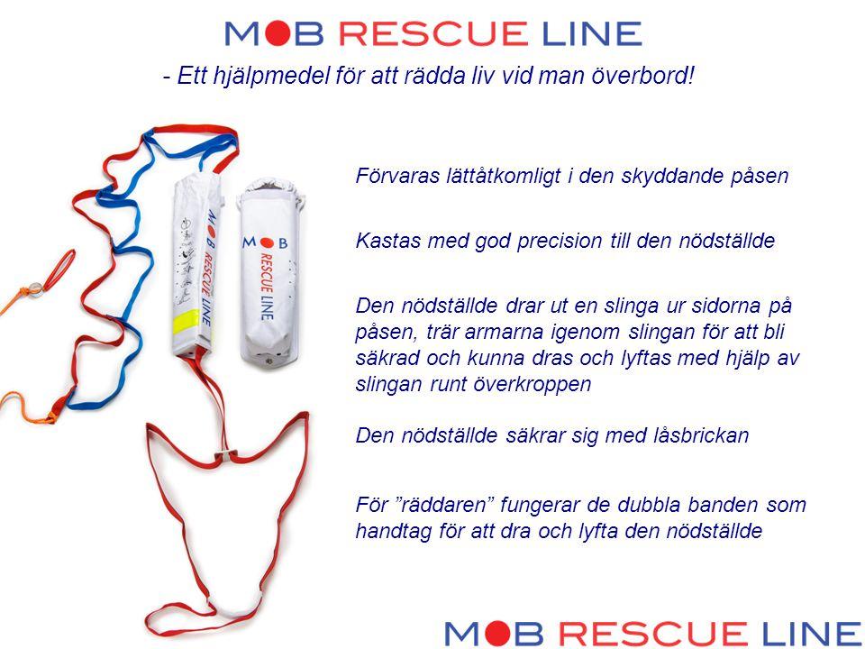 - Ett hjälpmedel för att rädda liv vid man överbord.