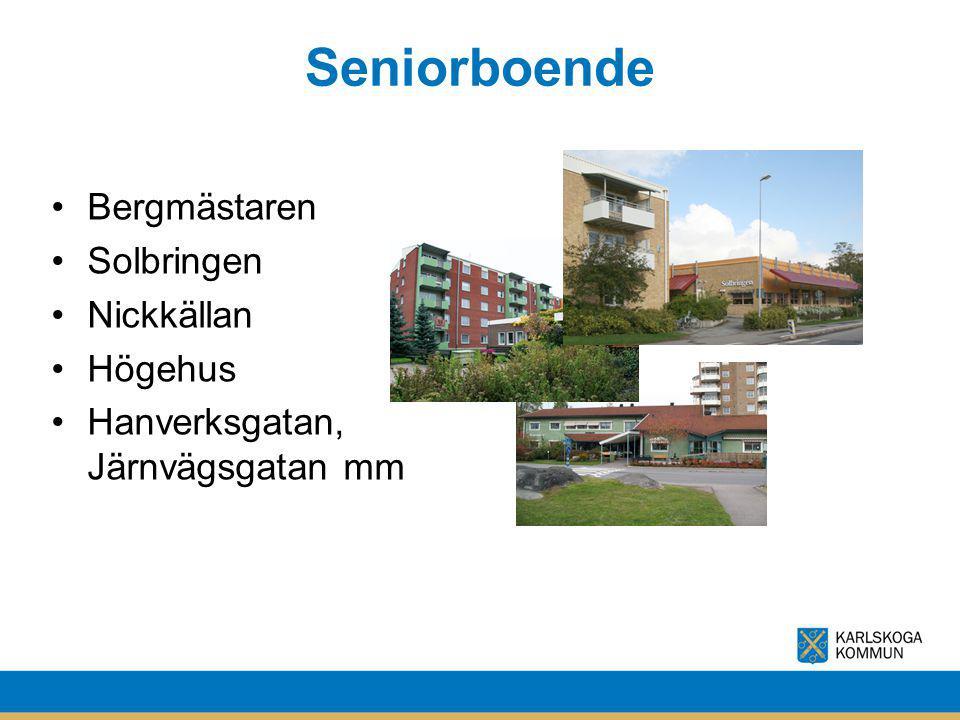Seniorboende Bergmästaren Solbringen Nickkällan Högehus Hanverksgatan, Järnvägsgatan mm
