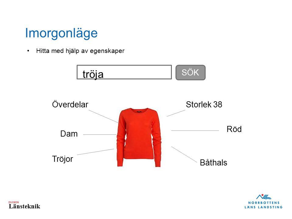 DIVISION Länsteknik Imorgonläge Dam Röd Överdelar Tröjor Storlek 38 Båthals SÖK tröja Hitta med hjälp av egenskaper