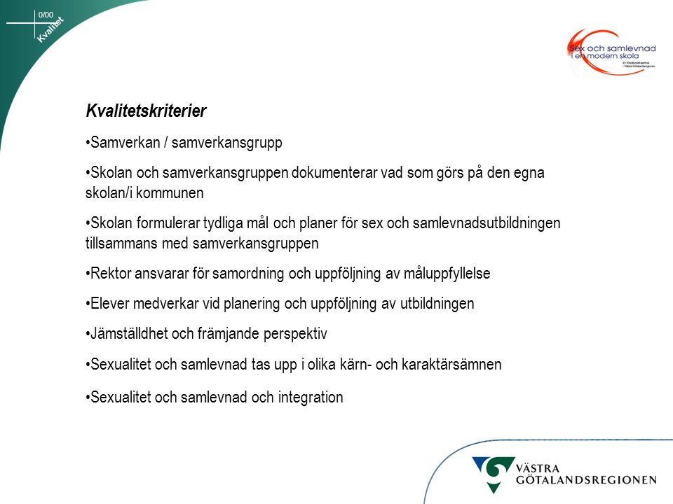 0/00 PROCESS INFODAG juni 2000 då 30 kommuner kom Rektor med intresserad lärare Folkhälsoplanerare Ungdomsmottagning Diskussion om deltagande i utv.arb.