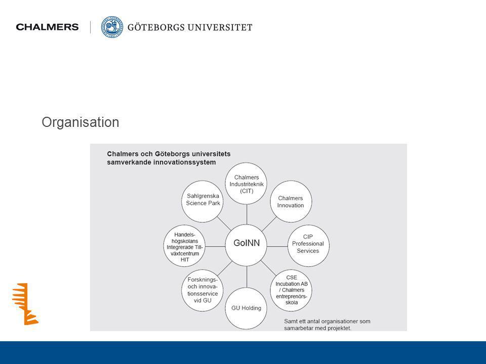 Noder i GoInn Noderna utgör koncentrationspunkter där samverkande forskning kan interagera med näringslivet inom definierade utvecklingsområden.
