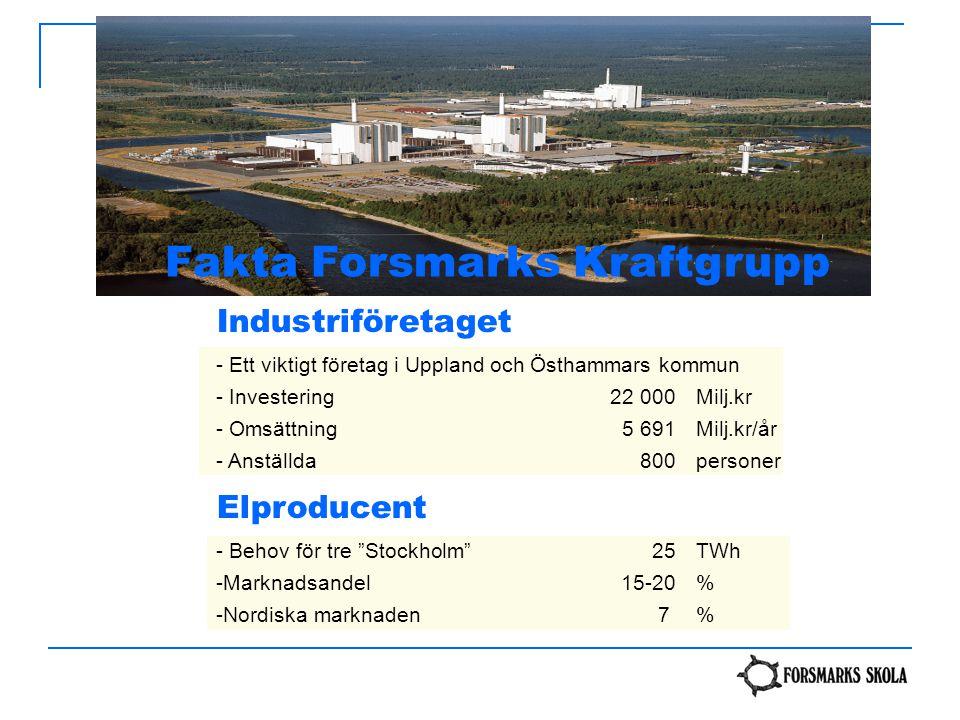 Industriföretaget - Ett viktigt företag i Uppland och Östhammars kommun - Investering22 000Milj.kr - Omsättning5 691Milj.kr/år - Anställda800personer