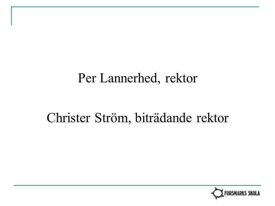 Per Lannerhed, rektor Christer Ström, biträdande rektor