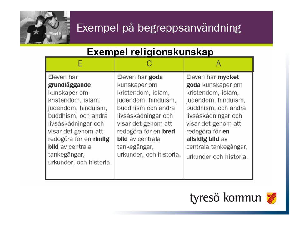 Exempel religionskunskap