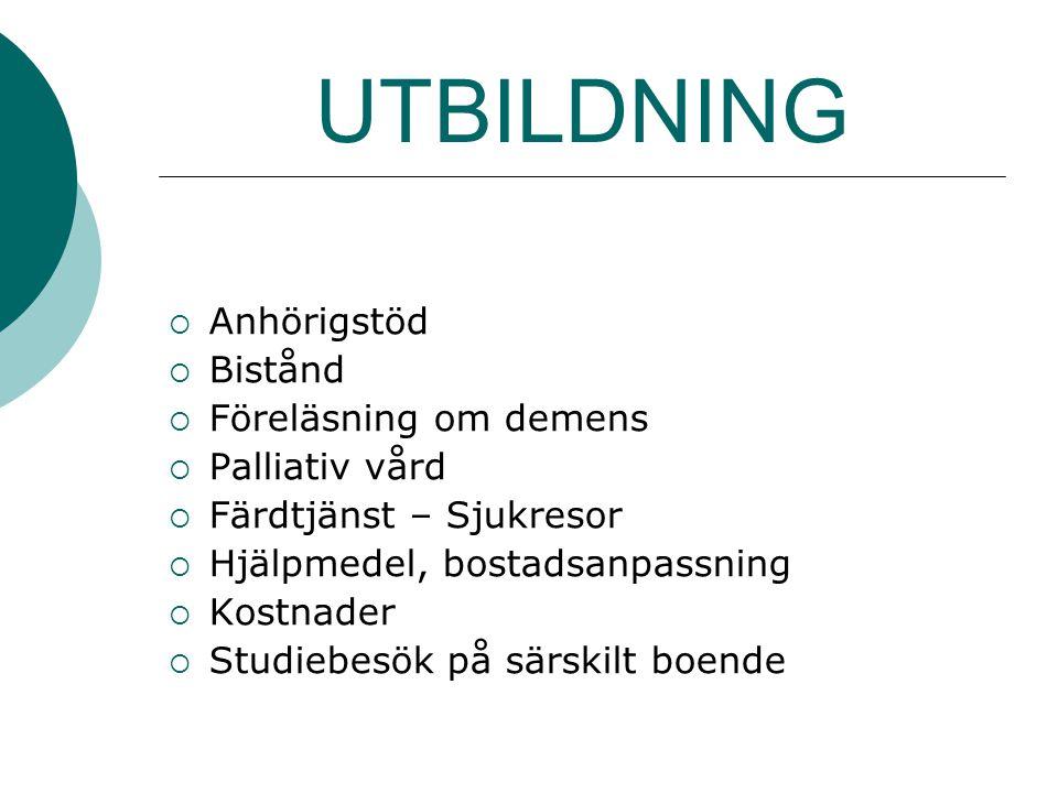 TACK För att du lyssnade Carina Pettersson Anhörigsamordnare Tranås Kommun