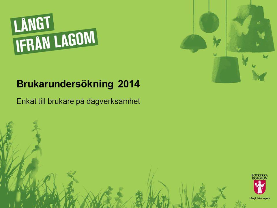 Brukarundersökning 2014 Enkät till brukare på dagverksamhet