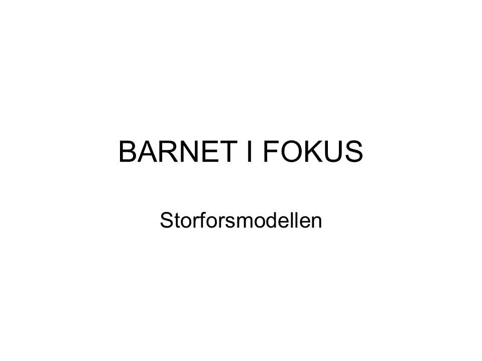 BARNET I FOKUS Storforsmodellen