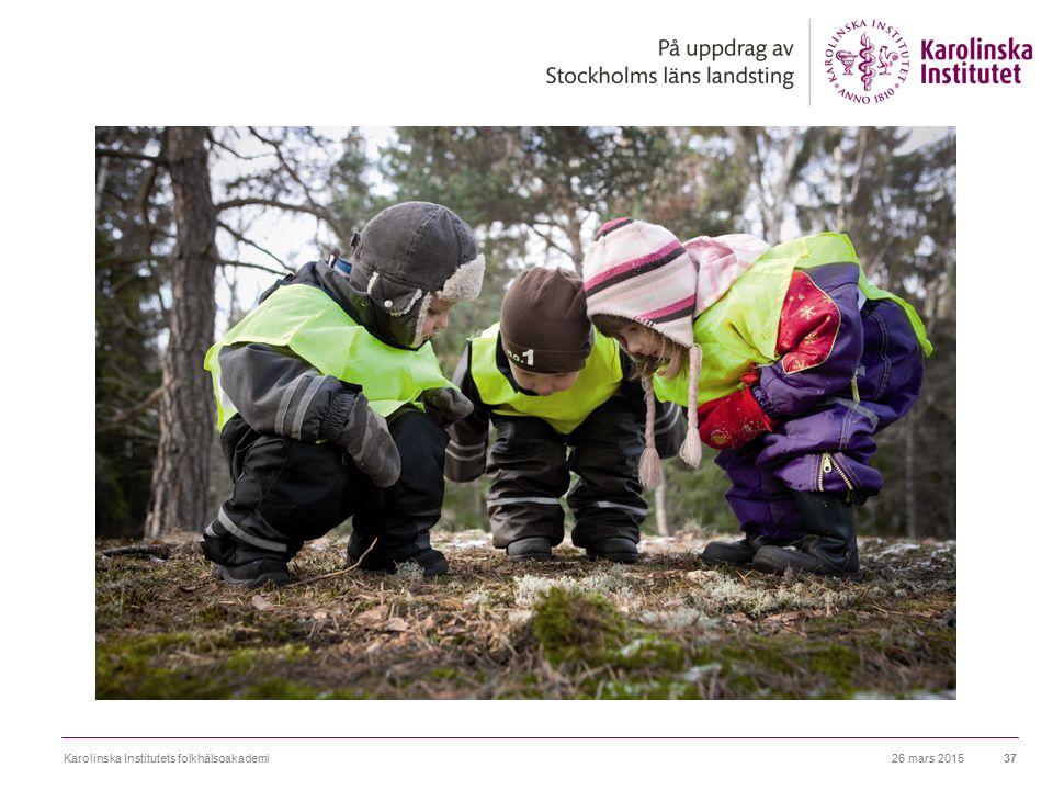 26 mars 2015Karolinska Institutets folkhälsoakademi37
