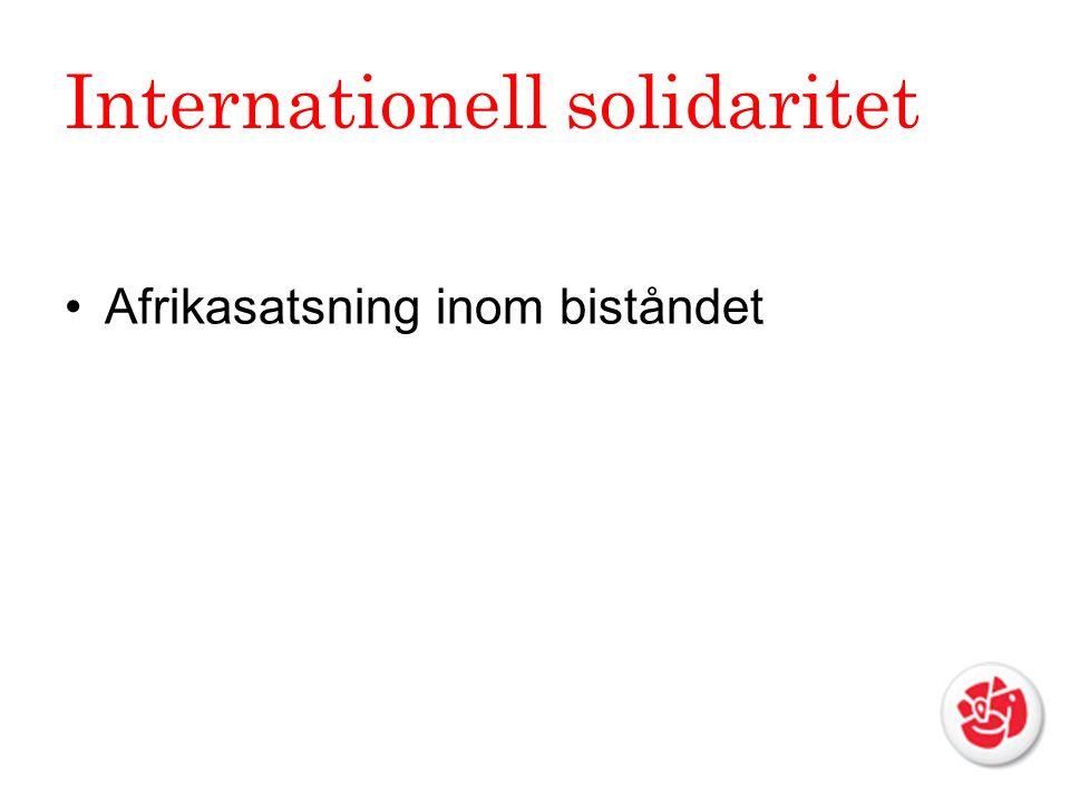 Internationell solidaritet Afrikasatsning inom biståndet