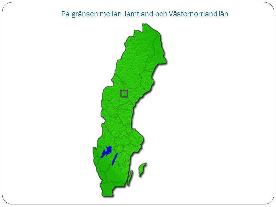 På gränsen mellan Jämtland och Västernorrland län