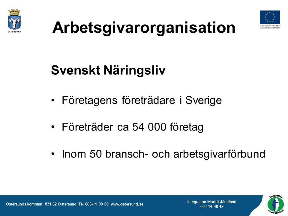Östersunds kommun 831 82 Östersund Tel 063-14 30 00 www.ostersund.se Integration Modell Jämtland 063-14 40 49 Arbetsgivarorganisation Svenskt Näringsl