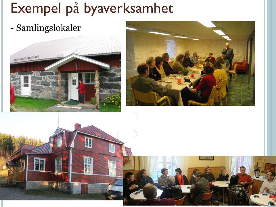 Exempel på byaverksamhet - Samlingslokaler
