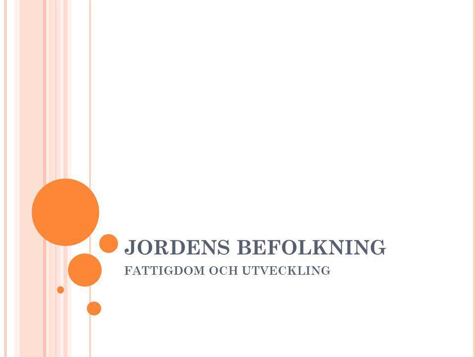 JORDENS BEFOLKNING FATTIGDOM OCH UTVECKLING