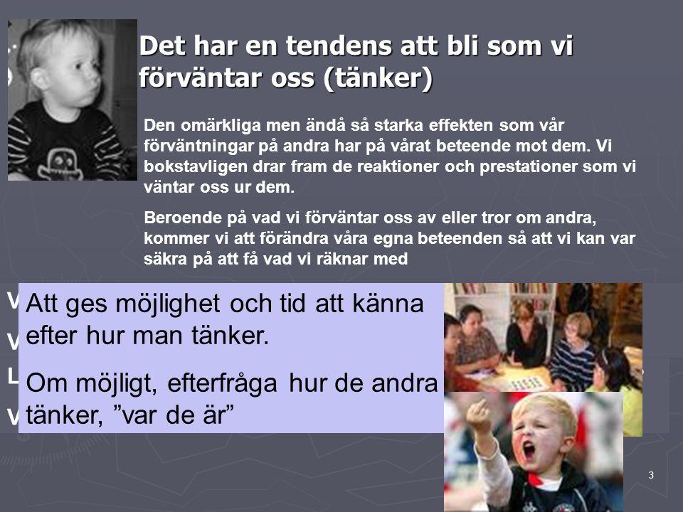 14 Verksamheten Enheten/laget Jag Idé/teori Görande Inre motivation & lust att lära Delaktighet och medskapande helhetssyn