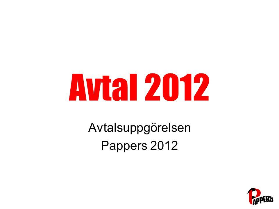 Avtal 2012 Avtalsuppgörelsen Pappers 2012
