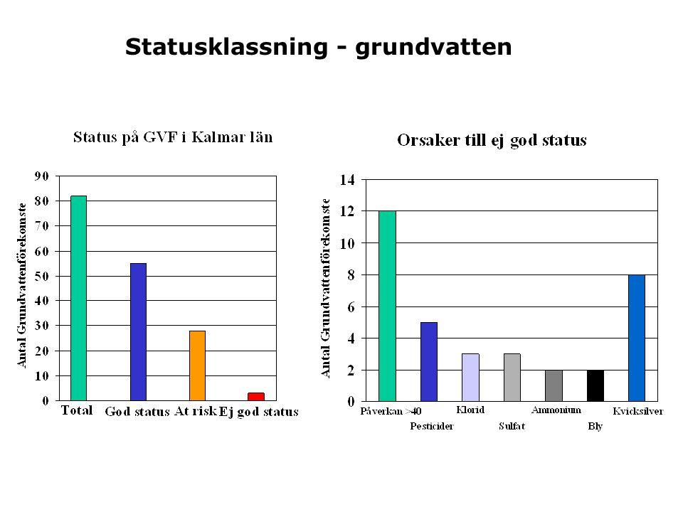 Statusklassning - grundvatten