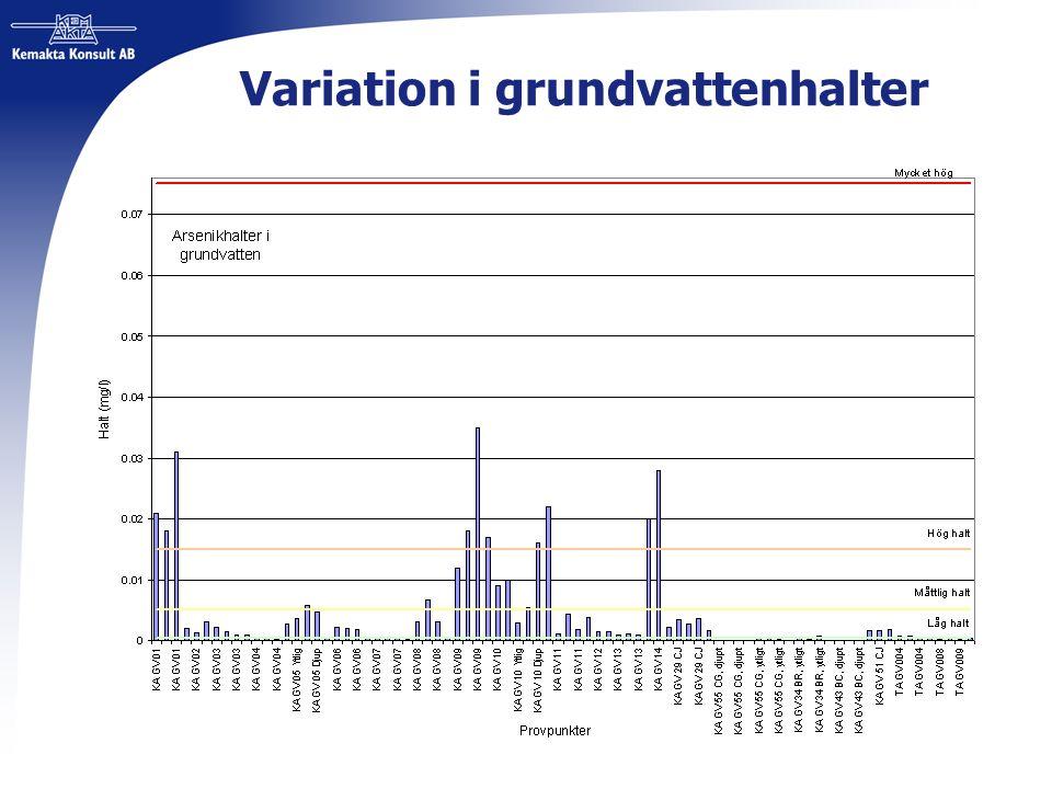 Variation i grundvattenhalter