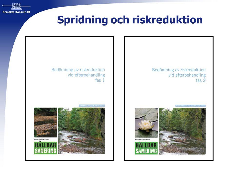 Spridning och riskreduktion