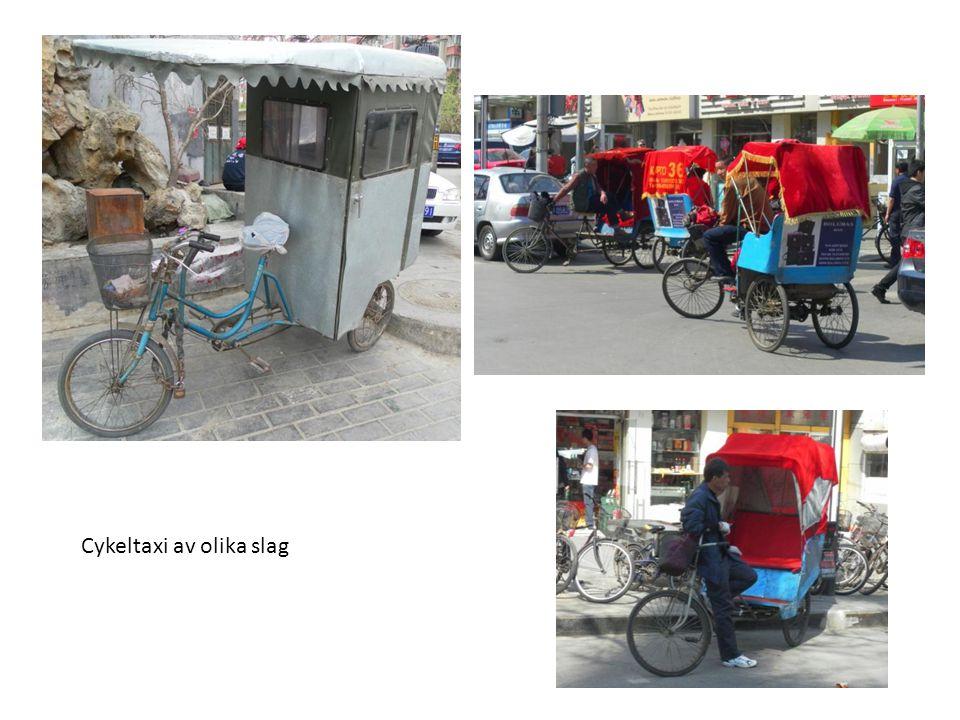 Cykeltaxi av olika slag