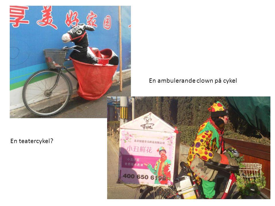 En teatercykel? En ambulerande clown på cykel
