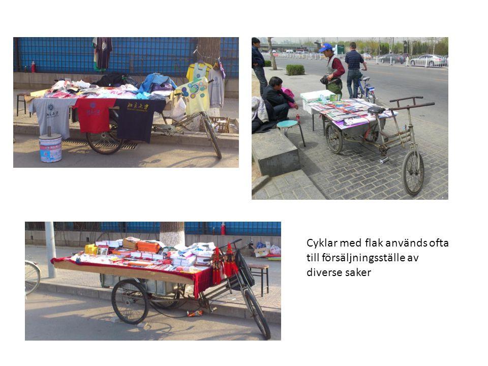 Cyklar med flak används ofta till försäljningsställe av diverse saker