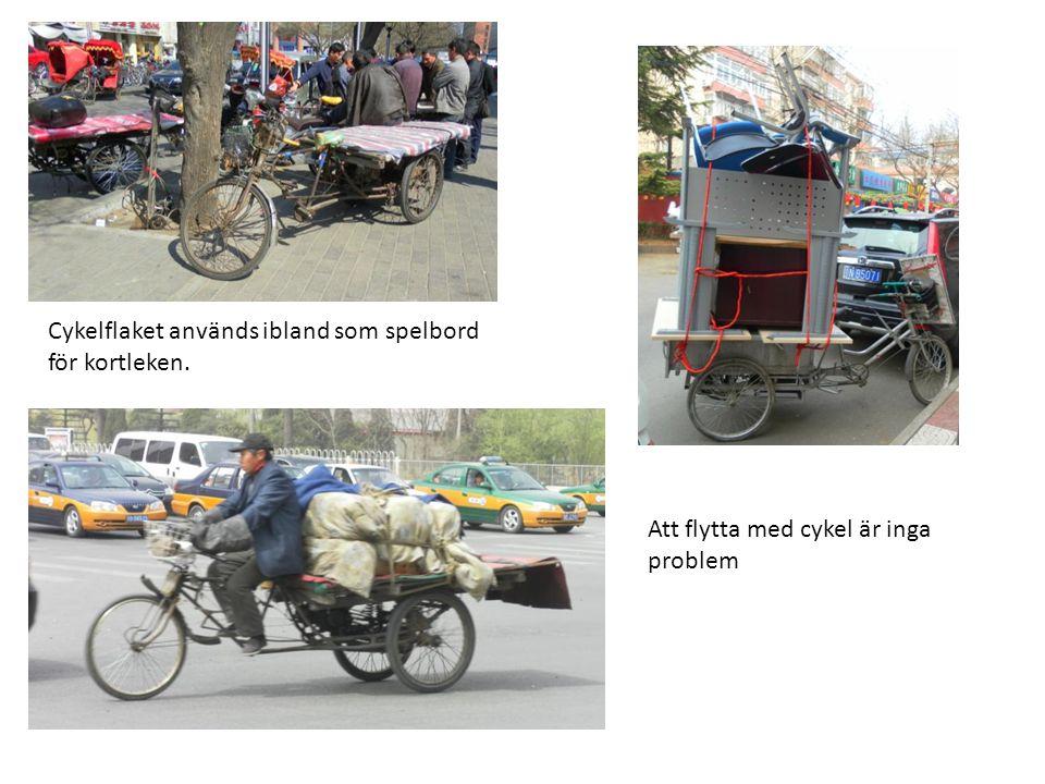 Cykelflaket används ibland som spelbord för kortleken. Att flytta med cykel är inga problem